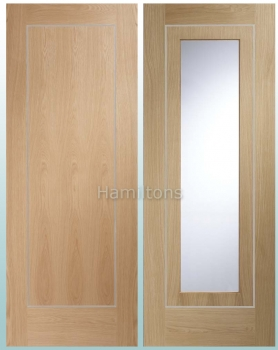 XL Oak Varese Panel Doors And Glazed Doors