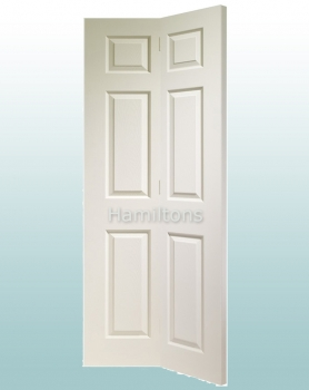 XL Joinery White Moulded Colonist 6 Panel Bi-fold Doors