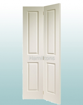 XL Joinery White Moulded 4 Panel Bi-fold Doors