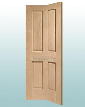 XL Joinery Oak Victorian Panel Bi-fold Doors