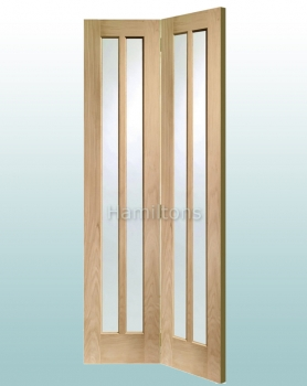 XL Joinery Oak Worcester Clear Glass Bi-fold Doors