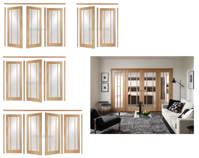 XL Joinery Easi Frame Oak Worcester Room Divider Clear Glass - Save ...