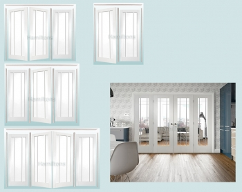 XL Joinery Easi Frame White Worcester Room Divider Clear Glass