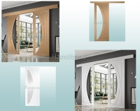 XL Joinery Oak Or White Easi Glide System For Single And Double Doors