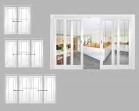 XL Joinery White Worcester Sliding Door System With Clear Glass