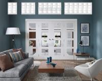 XL Joinery Freefold White Shaker 4 Light Folding Doors Clear Glass