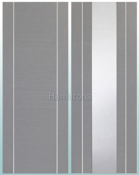 XL Joinery Forli Light Grey Panelled or Glass Standard and Fire Doors