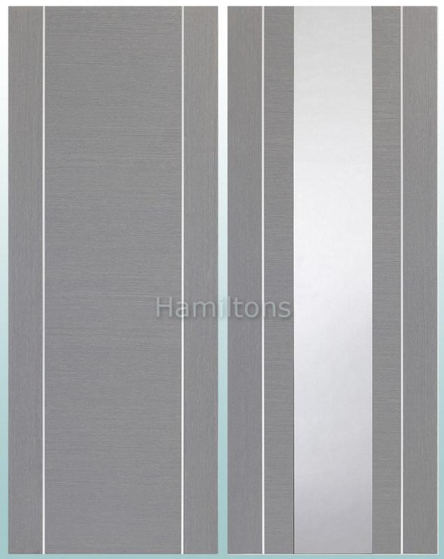 XL Joinery Forli Light Grey Panelled or Glazed Doors