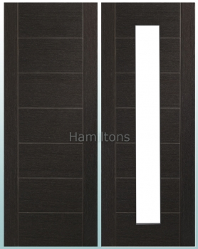 XL Joinery Palermo Dark Grey Panelled or Glass Standard and Fire Doors