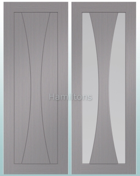 XL Joinery Verona Light Grey Panel and Glazed Doors