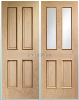 XL Joinery Oak Victorian Raised Beading. Solid Panel Or Bevelled Glass