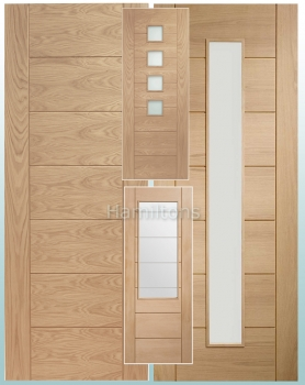 XL Joinery Palermo Original Oak Panelled And Glazed Doors