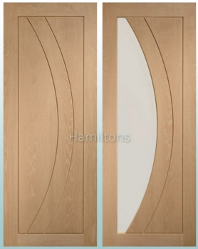 XL Oak Salerno Panel Doors And Matching Glazed Doors