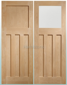 XL Oak DX Shaker Panel Doors And Glazed Doors