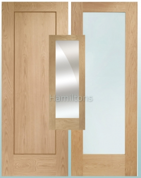 XL Oak Pattern 10 Doors. Solid Panel, Clear, Obscure and Mirror Glass