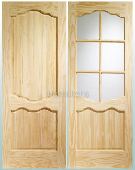 XL Joinery Clear Pine Louis Panel And Riviera Glass Doors