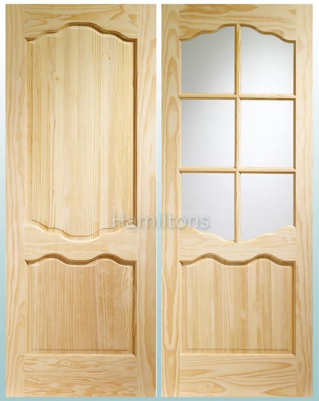 Standard Door  sc 1 st  Hamiltons doorsandfloors & XL Joinery Clear Pine Louis Panel And Riviera Glass Doors - Save ...