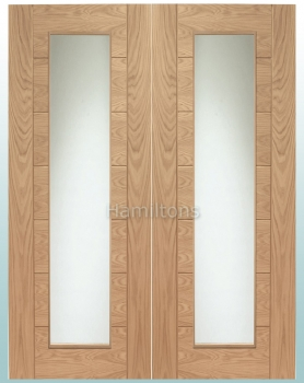 XL Joinery Oak Palermo Rebated Door Pairs With Clear Glass