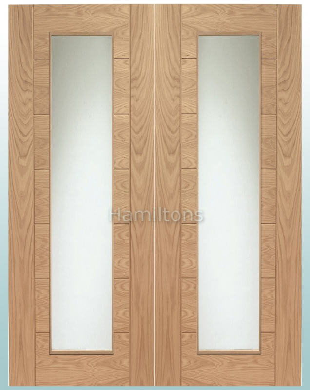 XL Joinery Oak Palermo Rebated Door Pairs With Clear Glass & XL Joinery Oak Palermo Rebated Door Pairs With Clear Glass - Save ...