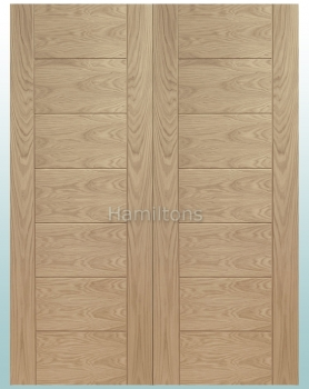 XL Joinery Oak Palermo Rebated Door Pair With Solid Panels