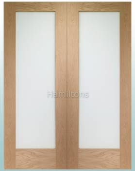 XL Joinery Oak Pattern 10 Rebated Door Pairs With Clear Glass
