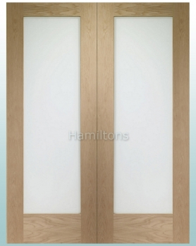 XL Joinery Oak Pattern 10 Rebated Door Pairs With Obscure Glass