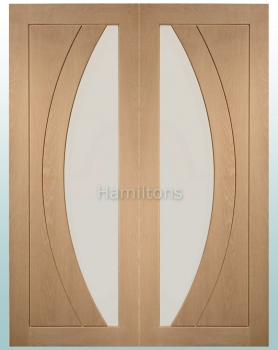 XL Joinery Oak Salerno Rebated Door Pair With Clear Glass