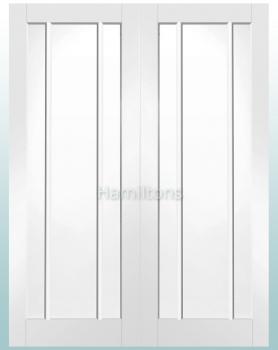 XL Joinery White Worcester Rebated Door Pair with Clear Glass
