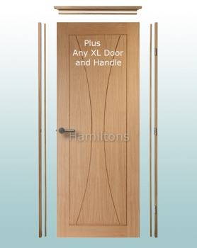 XL Joinery Oak Simpli Doorsets. Linings With Hinges And Latches