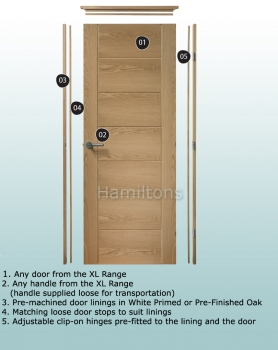 XL Joinery Simpli Doorsets. Oak Linings With Hinges And Latches Fitted