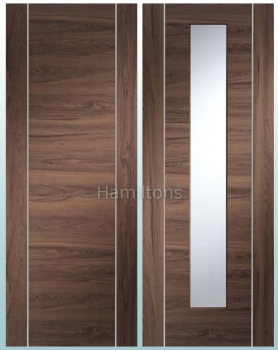 XL Joinery Walnut Forli Panel And Glazed Doors