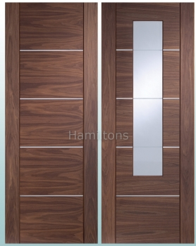 XL Joinery Walnut Portici Panel And Glazed Doors