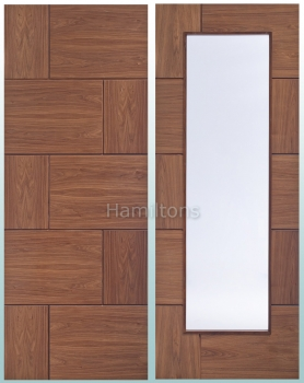 XL Joinery Walnut Ravenna Solid Panel or Clear Glass Doors