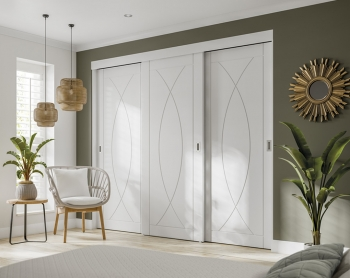 XL Joinery White Pesaro Sliding Wardrobe Doors With Frame