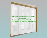 XL Joinery Oak Frame and Hardware System For Sliding Wardrobe Doors