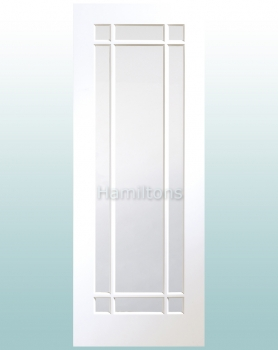 XL Joinery White Cheshire Clear Glass Doors