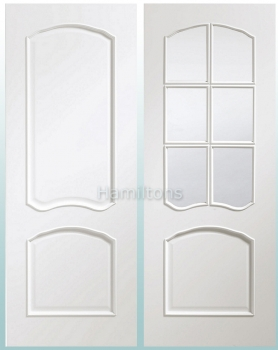 XL Joinery White Louis And Riviera. Raised Bead. Panel Or Bevel Glass