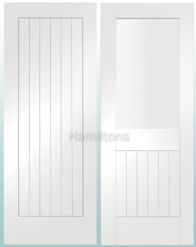 XL Joinery White Suffolk Panelled And Glazed Doors