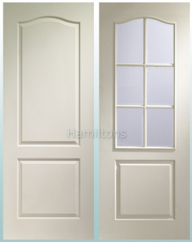 XL Joinery White Textured Classique Panel And Glazed Doors