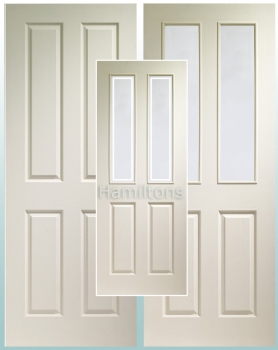 XL Joinery White Victorian 4 Panel Doors And Matching Glazed Doors