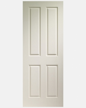 XL Joinery White Moulded Victorian 4 Panel Door Pre-finished