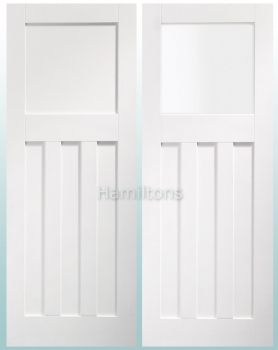 XL Joinery White DX-30 Panel And Obscure Glass Doors