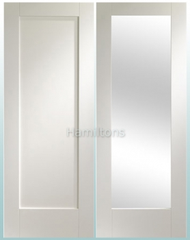 XL Joinery White Pattern 10 Solid Panel And Glazed Doors
