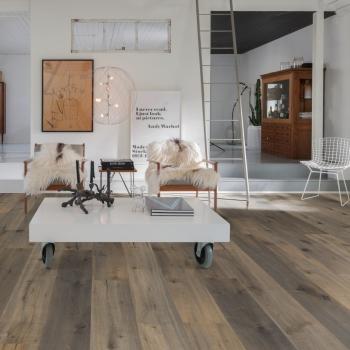 Kahrs Imperial Character Oak Dark Grey Engineered Wood Floor