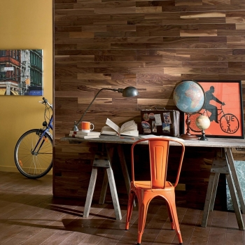 Panaget Bois Mural US Walnut Natural Oil Wall Panelling