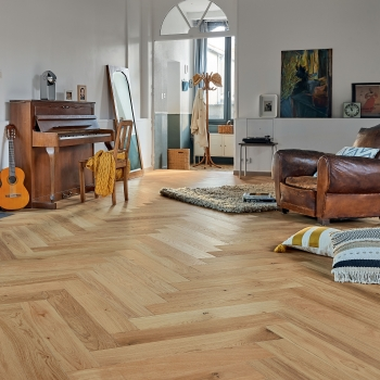 Panaget Authentic Topaze 14mm French Oak Herringbone Flooring