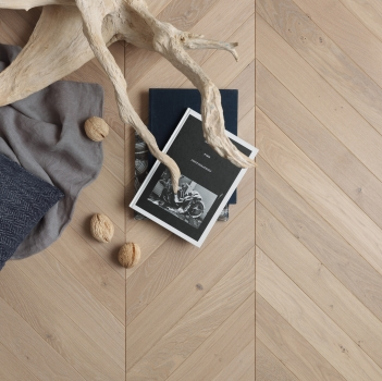 Panaget Chevron Authentic Tufeau French Oak Wood Flooring