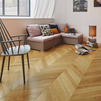 Panaget Chevron Classic Satin French Oak Wood Flooring