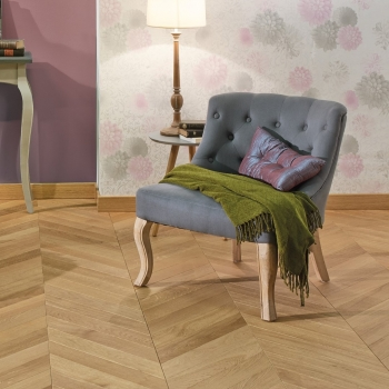Panaget Chevron Classic Topaze French Oak Wood Flooring