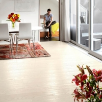 Tarkett Ash Pearl White 1 Strip Engineered Wood Flooring